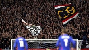 Aficionados húngaros en el encuentro contra Inglaterra