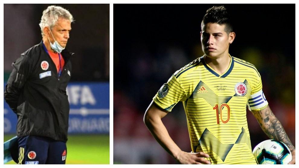 Reinaldo Rueda y James Rodríguez - Selección Colombia