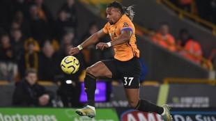 Adama Traoré con el Wolverhampton