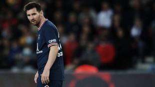 Messi en su último partido con el PSG