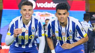 Matheus Uribe y Luis Díaz, futbolistas del Oporto.