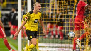 Halaand celebrando un gol ante el Union Berlin