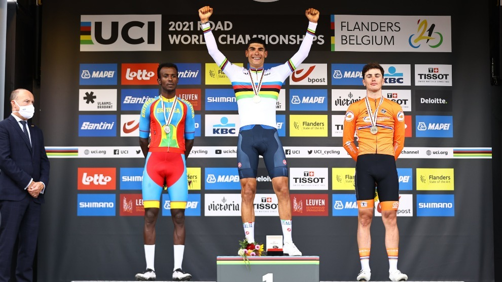 Podio en el Mundial de ciclismo sub 23