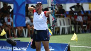 Sara López, campeona en el mundial de tiro con arco.