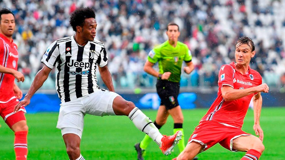 Juan Guillermo Cuadrado en la victoria de Juventus 3-2 sobre la...