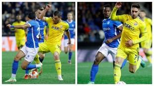 Daniel Muñoz y Carlos Cuesta en Genk vs Dinamo Zagreb por Europa...
