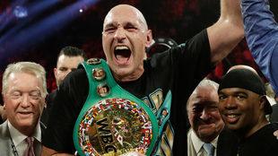 Tyson Fury, tras ganar un título