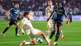 Duván Zapata en Atalanta vs Milan