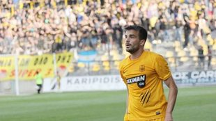Tsoumanis, durante un partido en la liga griega