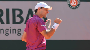 Dominic Thiem en Roland Garros