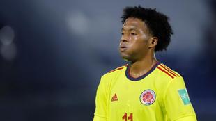 Juan Guillermo Cuadrado, en un partido de la Selección Colombia.