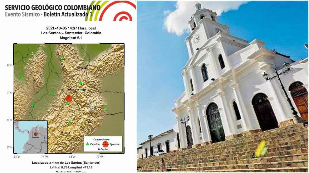 Nuevo temblor sacude a Colombia este martes