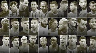 Los 30 nominados al Balón de oro 2021.
