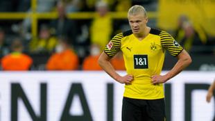 Haaland en su último partido con el Borussia Dortmund