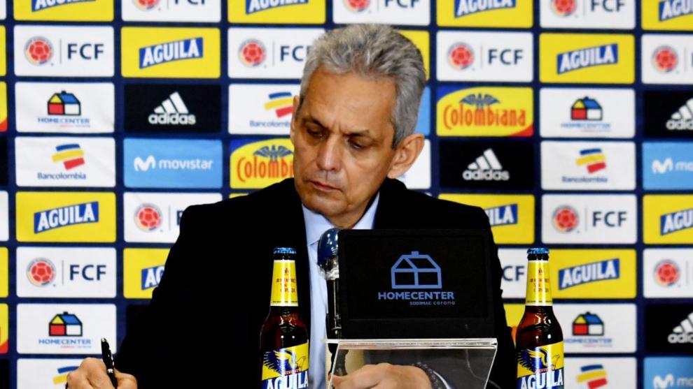 Reinaldo Rueda, en conferencia de prensa.