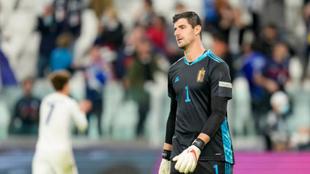 Courtois en el partido ante Francia de la UEFA Nations League