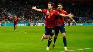 Momento del gol de España