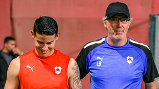James Rodríguez junto a Blanc