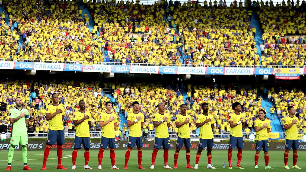 La Selección Colombia en el Metropolitano de Barranquilla.