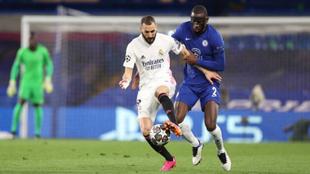 Rudiger ante el Real Madrid en un partido de Champions League