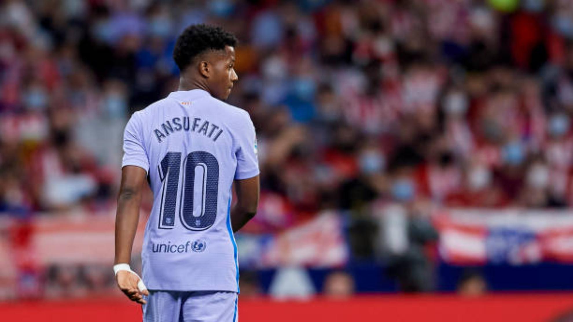 Ansu Fati en el partido contra el Atlético de Madrid