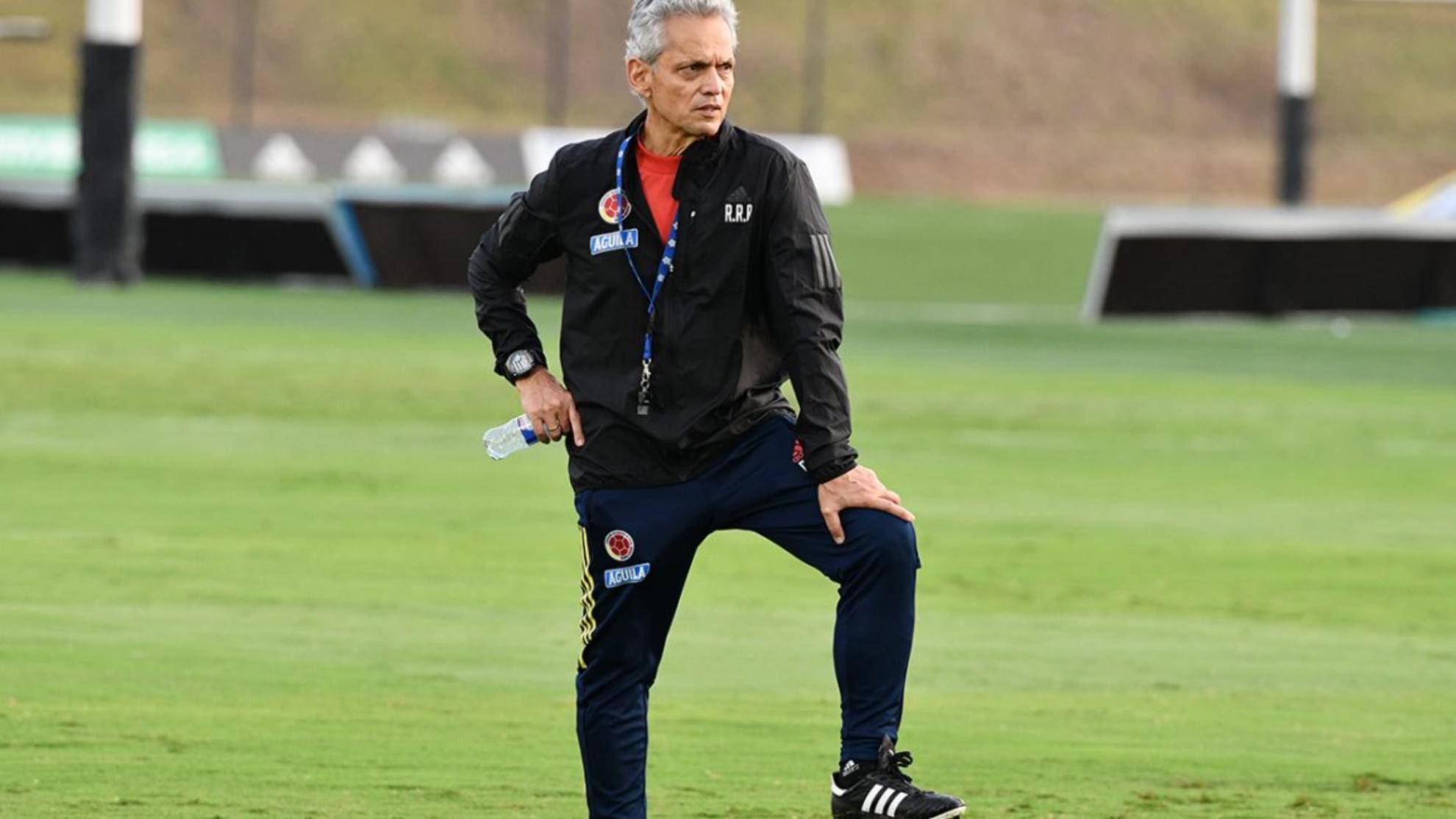 Reinaldo Rueda, en un entrenamiento de la Selección Colombia.