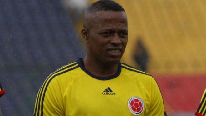 Miguel 'Niche' Guerrero con la Selección Colombia.