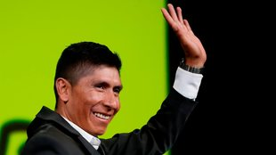 Nairo Quintana en la presentación del Tour de Francia 2022