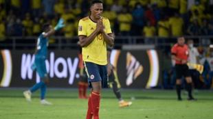 Yerry Mina central colombiano del Everton