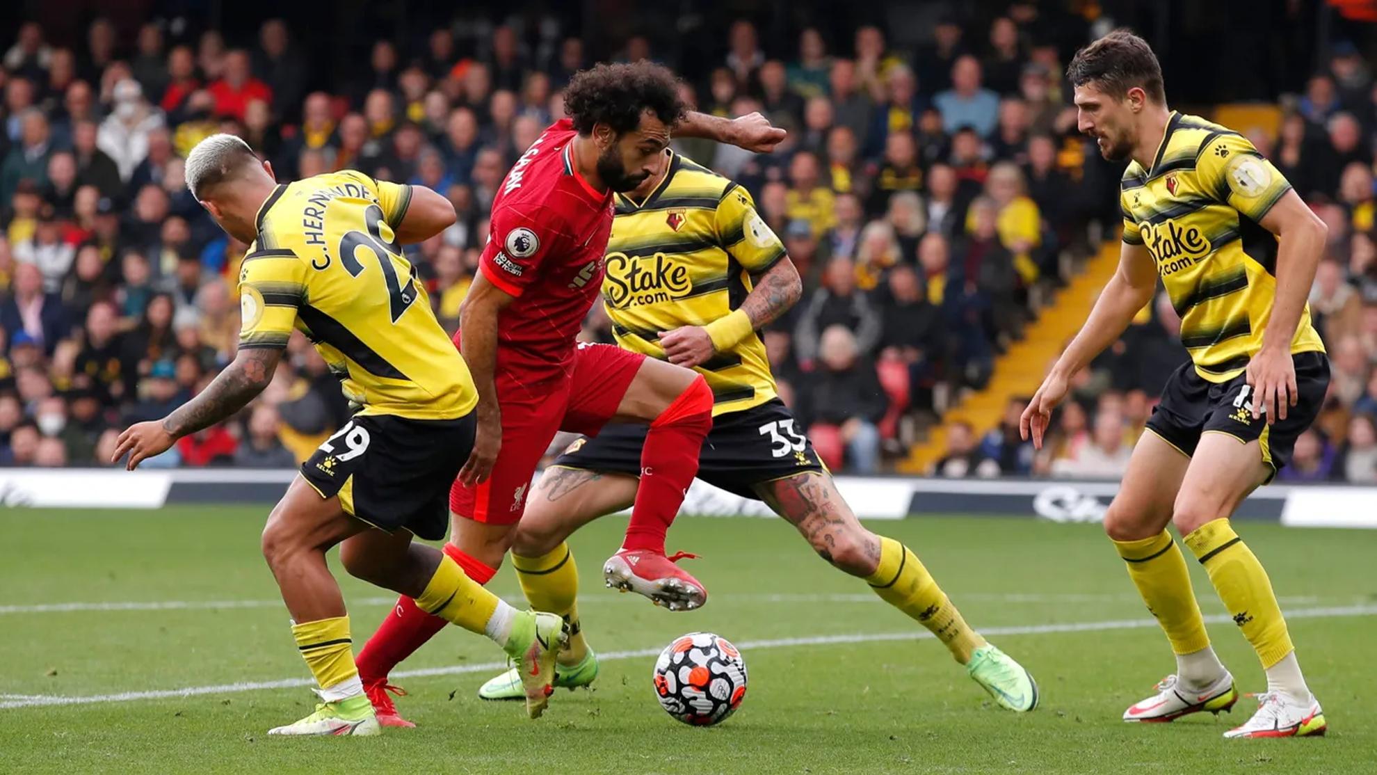 El Liverpool tritura al Watford del Cucho Hernández