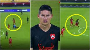 El debut de James retrata el bajo nivel de la liga de Qatar con un...