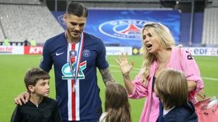 Mauro Icardi junto a su ex mujer Wanda Nara