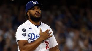 Kenley Jansen, cerrador de los Dodgers.