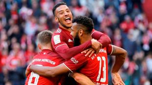 Jugadores del Bayern Múnich celebran un gol.
