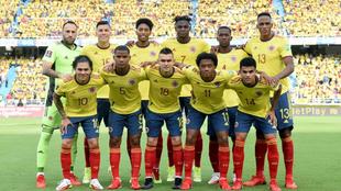 Jugadores de la Selección Colombia, en Barranquilla