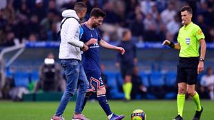 Messi tras el partido contra el Marsella
