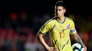 James Rodríguez, en un partido de la Selección Colombia.