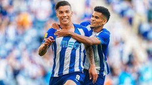 Matheus Uribe y Luis Díaz, jugadores del Oporto.