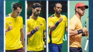 Jugadores colombianos para la Copa Davis.