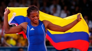 Jackeline Rentería, deportista colombiana.